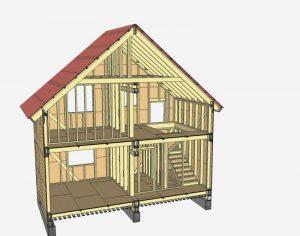Каркасный дом макет